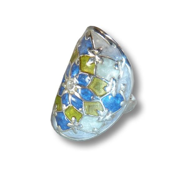 Blue Star ring | ring | Art Styles jewelry | zilver | Studio Art Styles