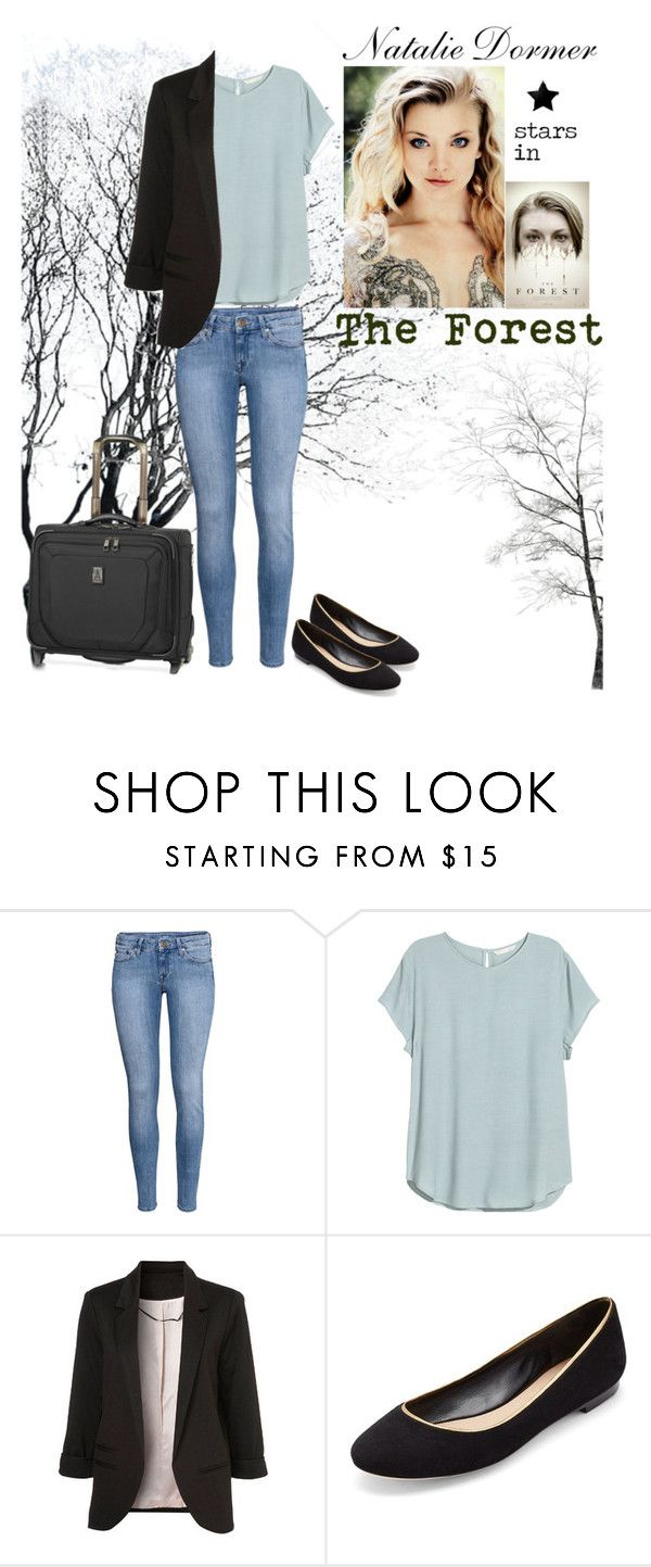 """Natalie Dormer stars as ""Sarah Price"" in ""The Forest"""" by havenrose ❤ liked on Polyvore featuring H&M, WithChic, Diane Von Furstenberg and Travelpro"