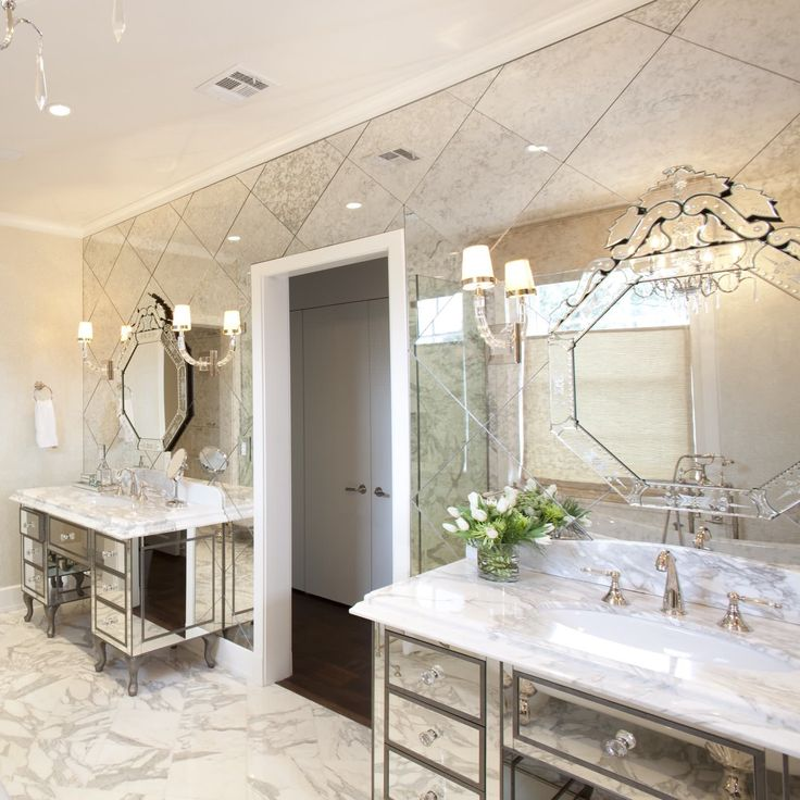 Venetian Mirrors via Laura U Design
