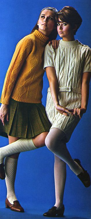 Fashion ♥ 1968...this was how we went to school!  No pants allowed for girls, and it was cold in Colorado!