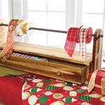Craft room- ribbon rack