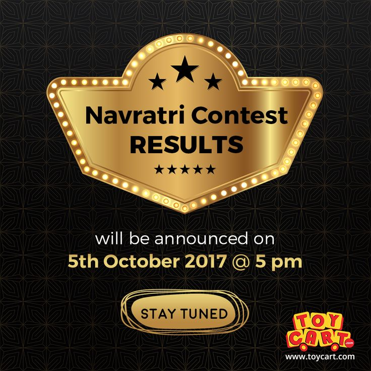 We will announce the Navratri Contest RESULTS on 5th October @ 5 PM.... Stay Tuned! #navratri2017 #contestresults #hopetowin #maximumlikes #keepwaiting #joysforall #onlinetoystore