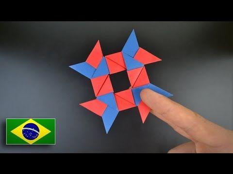 Origami: Shuriken de 8 pontas / Estrela Ninja - Instruções em Português BR - YouTube