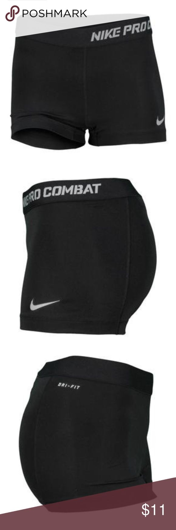 Nike Pro Combat compression shorts Size small, excellent used condition! Always washed gentle cycle and hang-dried, but due to very stretchy nature of fabric, the logo has begun to crack (see picture). Nike Shorts