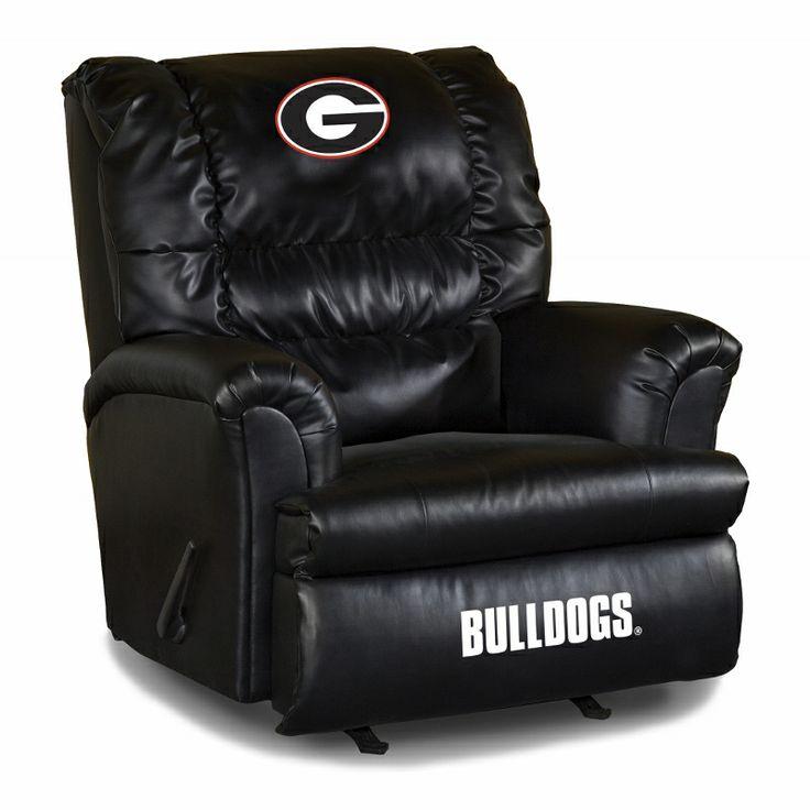 Georgia Bulldogs Leather Big Daddy Recliner