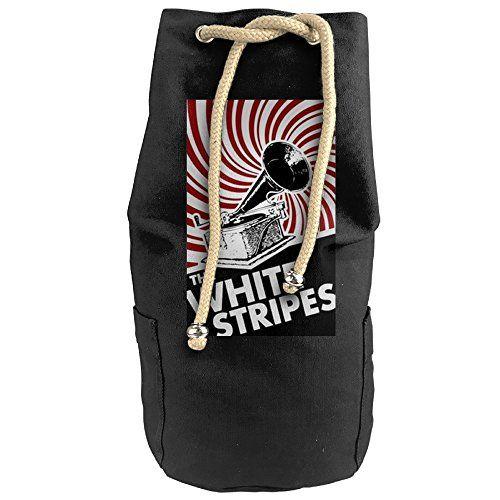 Bandy Stripes Band Canvas Drawstring Backpack Bucket Bag