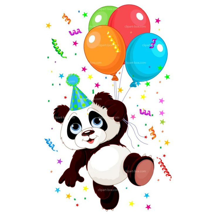 Clipart Party Panda Vector Design Clip