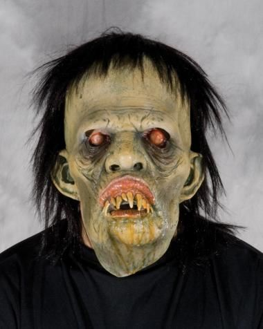 Boogity Wiggy Zombie Mask  SKU: M7014  Terrifying drooling Zombie Sculpt with great visibility, comfortable and easy wearability. The mask alone is a full costume.  Zagone Studios Masks & Costumes | Zagone Studios