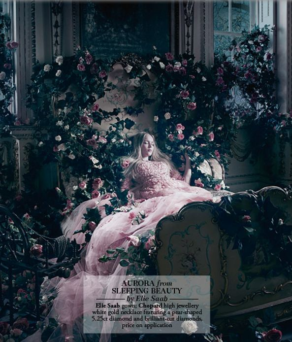 Aurora from Sleeping Beauty by Elie Saab. Photo by Jason Ell for Harrods Magazine.