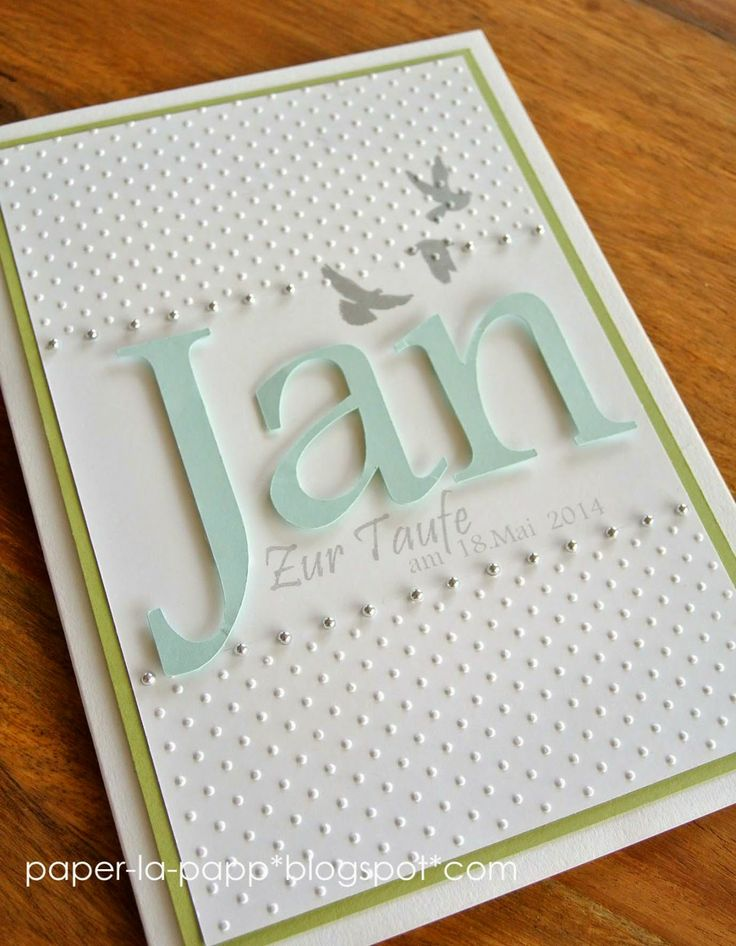 paper-la-papp - personalisierte Taufkarte