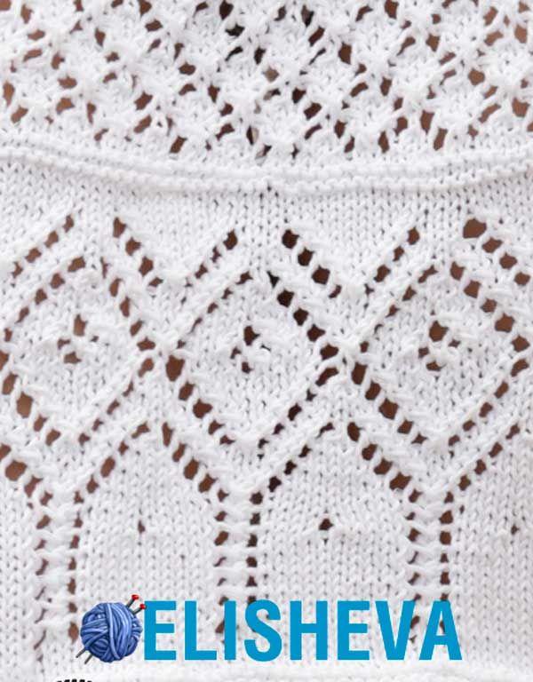 Весенне-летняя юбка из хлопка от Drops Design вязаная спицами | Блог elisheva.ru