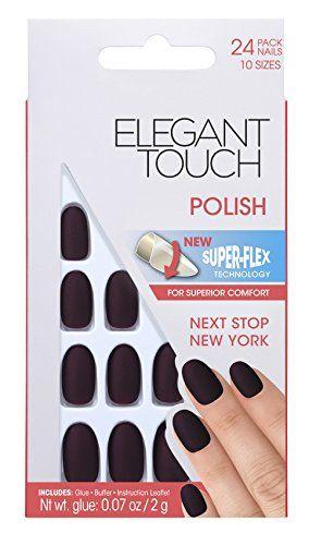 Elegant Touch Polished Ongles Next Stop New York: Résultat parfait comme dans le Salon! Technologie Superflue Rapide et facile à utiliser…