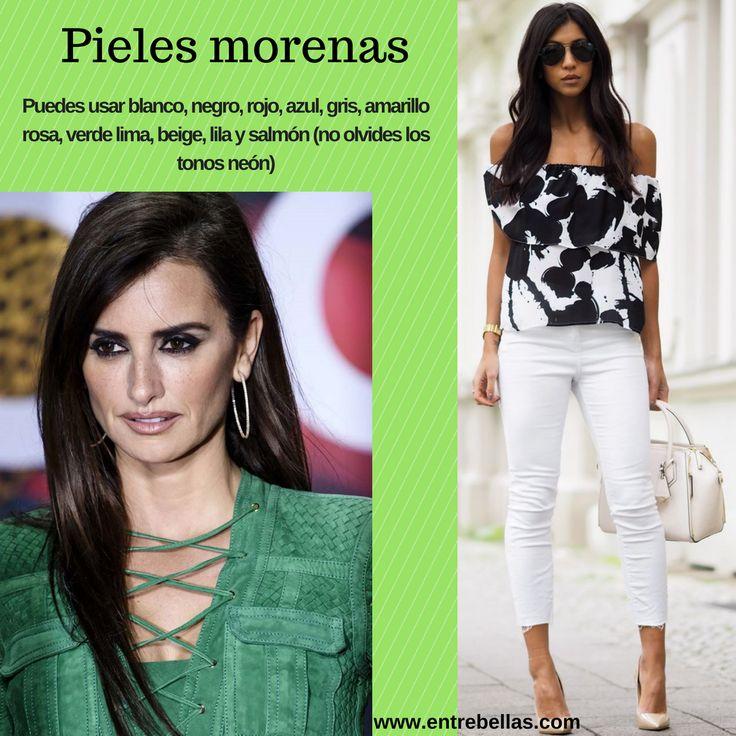 Si eres de #pielmorena puedes llevar #outfits con verde,  blanco, negro, rojo, azul, gris, amarillo rosa, verde lima, beige, lila, salmón