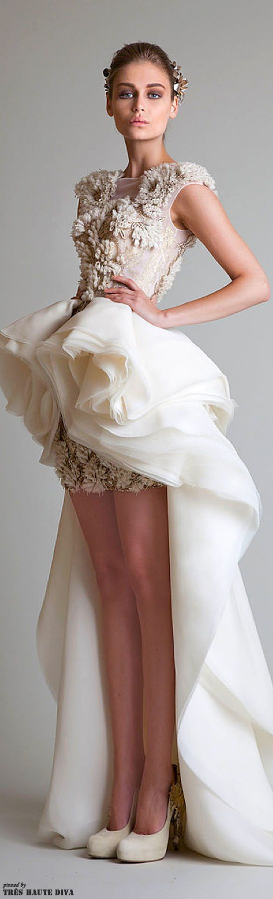 so much going on here, but wow. Krikor Jabotian Couture 2013