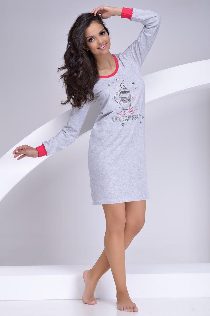 Dámská noční košile s nápisem Hot Coffee. #nightdress #nocnikosile #hotcoffee