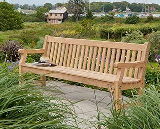 Alexander Rose Roble Park Bench 8ft with Free Brass Plaque Link: http://www.hayesgardenworld.co.uk/product/alexander-rose-roble-park-bench-8ft-free-brass-plaque