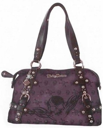Harley-Davidson� Women's Jacquard Purple Satchel Bag Handbag Purse-LIMITED EDITION. Yarn-dyed Jacquard with Matte Leather Trim. SK5800J $109.95