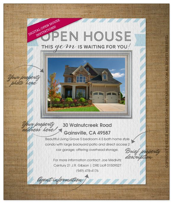 85 Best Open House Images On Pinterest Open House Flyers And