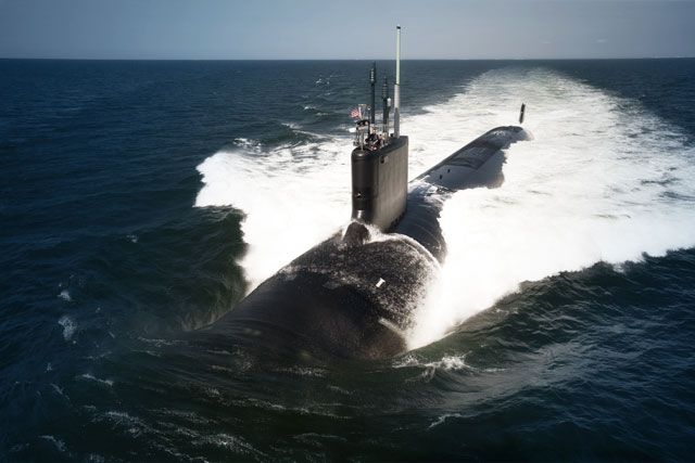 SUB ~ The Virginia-class attack submarine USS California (SSN 781) underway during sea trials. ~ BFD