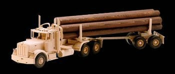 Wood Toy Log Truck
