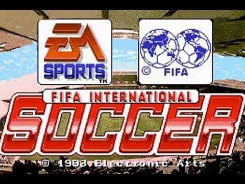 FIFA International Soccer (94) Retro Gameplay Of  England vs USA - (Supe...
