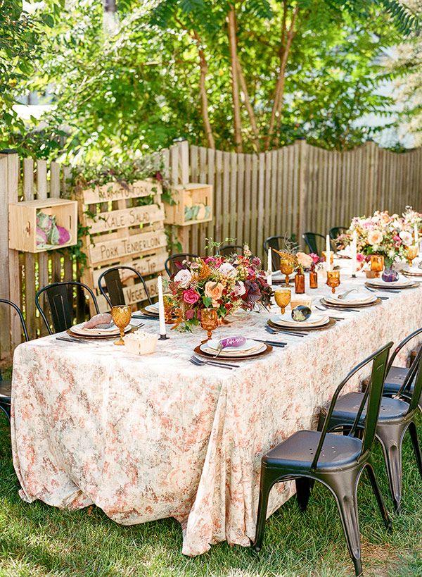 Farmers Market Bridal Shower Backyard Feast