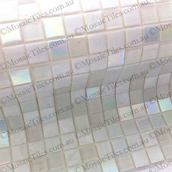 Beautiful white pearl #mosaictiles looks white and then when the sun hits it it reflects pearl! #giovannamosaictiles  #bisazzatiles are available online at http://mosaictiles.com.au/bisazza-mosaic-tiles