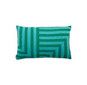 Meta grøn/mint pude / knitted cushion / 100 % wool / made in denmark