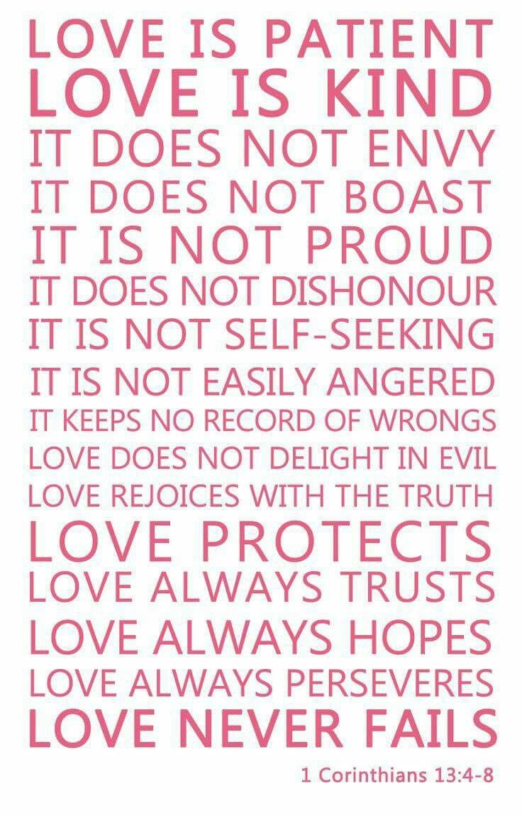 LOVE (1 Corinthians 13:4-8) Does your loved one fulfill these virtues? Do you?