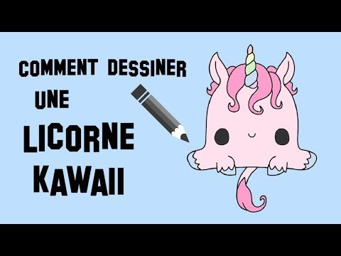 comment dessiner une licorne kawaii youtube pinteres. Black Bedroom Furniture Sets. Home Design Ideas
