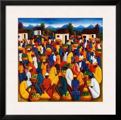 Haitian Art Art Print by Andre Pierre at Art.com
