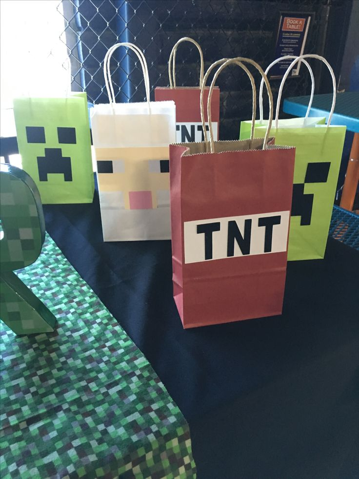 Minecraft Gift Bags Minecraft Gifts Minecraft Party