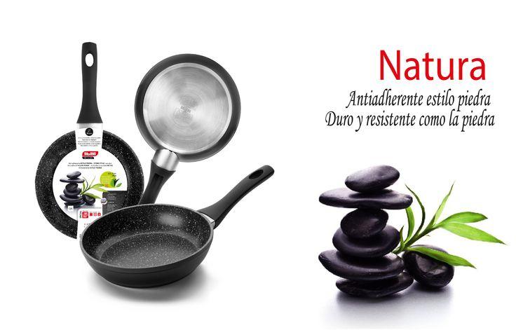 Una de nuestras novedades en sartenes, Sartén NATURA. Muy resistente. No se le resiste ninguna receta.   One of our news in frying pans is Natura frying pan. Very tough. Resits any recipe!