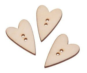Wooden Buttons in heart shape by Kidswoodgame on Etsy