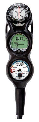 """ReSource Pro Compact Console includes a dive computer and a 5000 psi pressure gauge w/temp. 1.75"""" diameter.Features: Air/Nitrox or Gauge operating mode. Deep stop reminder conforms to latest theories recommending deep stops for dives that exceed 80 feet. Digital and bar graph indicators for..."""
