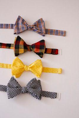 Querem fazer gravatas borboletas personalizadas para seus pagens ou mesmo para o noivo e padrinhos? O blog Delia Creates  disponibiliza o pa...