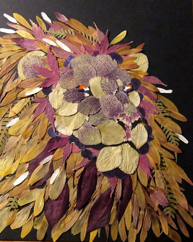 LEO~lion art made of flower petals
