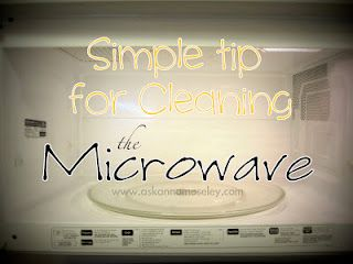 Use vinegar to clean the microwave. #cleaning