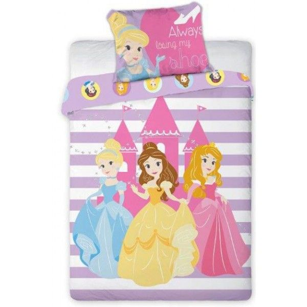 Disney junior prinsesse sengetøj med Askepot, Belle og Tornerose