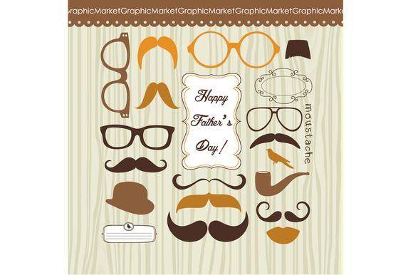 Check out Father's Day Mustache Card by GraphicMarket on Creative Market