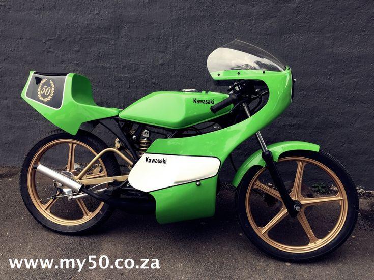Kawasaki AR 50 Race Bike build by Brent Carpenter