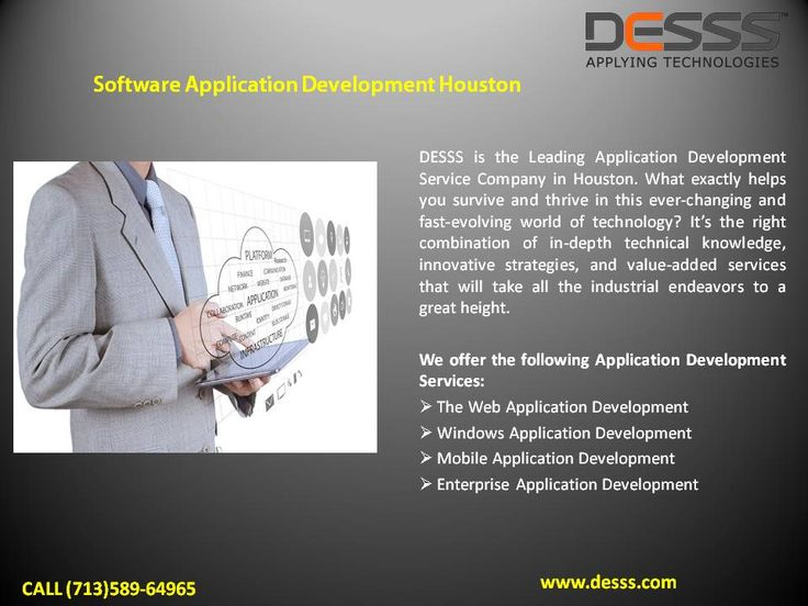 Application Development Company  DESSS is the Best #Application #Development #Company, specializing in #Mobile #Application #Development, #Web #Application #Development and more.  To hire our #Services ping to #Houston (713)589-6496, #Texas.  Visit: http://www.desss.com.  #Application_Development_Company_Houston #Web_Application_Development_Company_Houston #Mobile_Application_Development_Company_Houston #Application_Development_Company #Web_Application_Development_Company…
