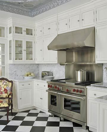 black and white floor tile kitchen. Best 25  Checkered floor kitchen ideas on Pinterest floors Checkerboard and White tile