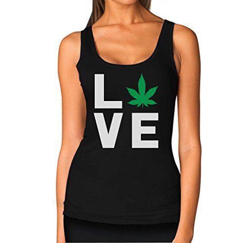 Love Weed - Cannabis Ganja Marijuana Smokers Gift for Weed Day Women Tank Top - 420 Shop