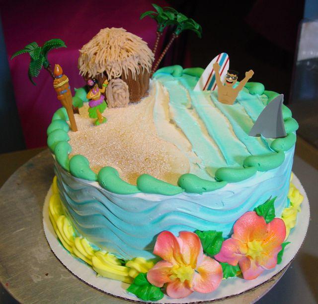 Luau Birthday Cakes 240