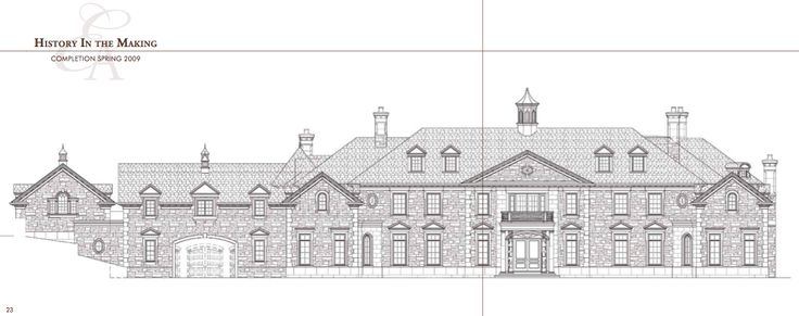 Technical Drawing Front Elevation : Best stone mansion at frick drive images on pinterest