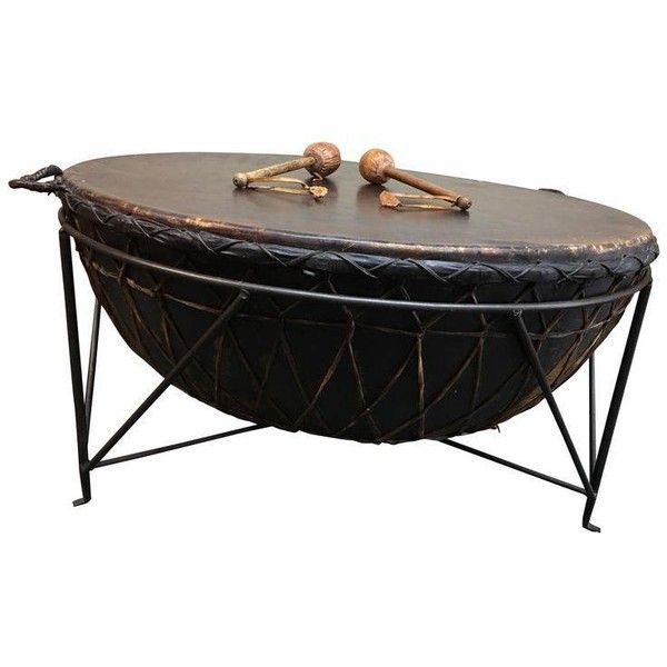 African Drum Tail Table 4 685 Sar Liked On Polyvore