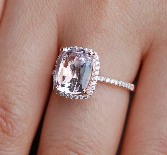 OH I AM IN LOVE!!!!  Smokey Peach Sapphire Ring 14k Rose Gold Diamond by EidelPrecious