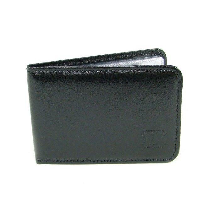 Černé pouzdro na karty - peněženky AHAL