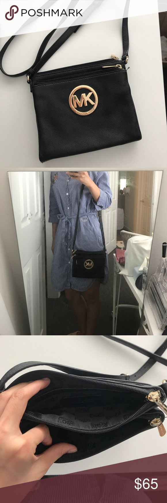 Michael Kors Leather Mini Shoulder Bag Classic design and color that could basically just go well with any kind of outfit or circumstances. Authentic Michael Kors. NO SCRATCH AT ALL Michael Kors Bags Mini Bags